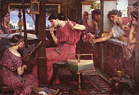 Penelope and the Suitors, 1912, waterhouse