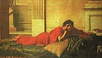 The Remorse of Nero after the Murder of his Mother, 1878, waterhouse