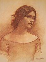 Study for The Lady Clare, waterhouse