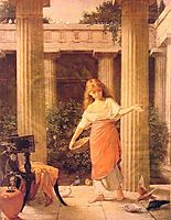 In the Peristyle, 1874, waterhouse