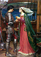 Tristan and Isolde with the Potion, waterhouse