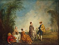 An Embarrasing Proposal, 1716, watteau