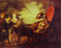 Arlecchino Emperor in the Moon, 1708, watteau