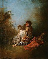 The Blunder, 1718, watteau