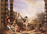 The Charmes of Life, c.1718, watteau