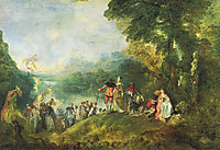 The Embarkation for Cythera, 1717, watteau