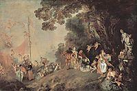 Pilgrimage on the Isle of Cythera, c.1718, watteau
