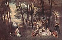 Entertainment countryside, c.1718, watteau