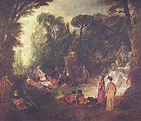 Feast in Park, c.1713, watteau