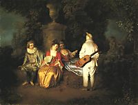 The Foursome, c.1713, watteau
