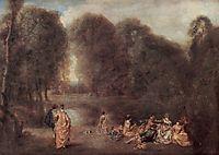 Gathering in the Park, c.1717, watteau