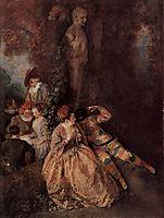 The Harlekin, c.1716, watteau