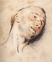Head of a Man, watteau