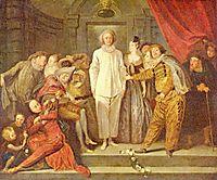 Italian Comedians, c.1720, watteau