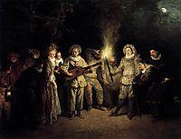 The Italian Comedy, c.1716, watteau