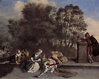 Italian Recreation, c.1715, watteau