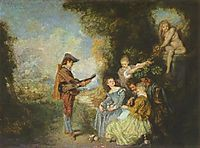 The Lesson of Love, 1716, watteau