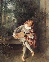Mezzetin, 1719, watteau