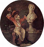 The Monkey Sculptor, c.1710, watteau