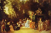 Party in the Open Air, 1718, watteau