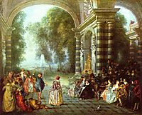 The pleasures of the ball, 1714, watteau