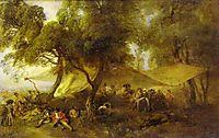 The Recreations of War, 1715, watteau