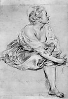 A Seated Woman, watteau