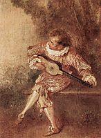 The Serenader, c.1715, watteau