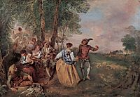 The Shepherds, c.1717, watteau