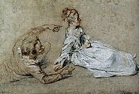 Sitting Couple, c.1716, watteau