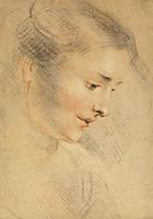 Study of a Woman-s Head, watteau