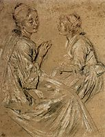Two Seated Women, 1717, watteau