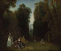 View through the Trees in the Park of Pierre Crozat, c.1715, watteau