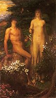 Adam and Eve before the Temptation, watts