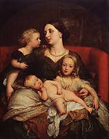 Mrs George Augustus Frederick Cavendish Bentinck and her Children, c.1860, watts
