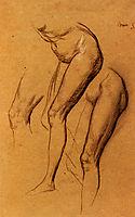 Nude Studies Of Long Mary, watts