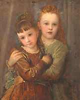 Rachel and Laura Gurney, c.1875, watts