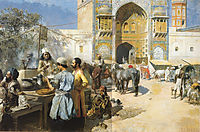 An Open Air Restaurant, Lahore, 1889, weeks