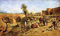 Arrival of a Caravan Outside The City of Morocco, c.1882, weeks