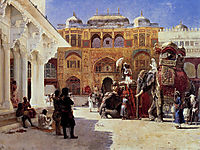 Arrival Of Prince Humbert, The Rajah, At The Palace Of Amber, c.1888, weeks