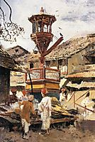 Birdhouse and Market Ahmedabad, India, 1892, weeks