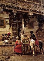 Craftsman Selling Cases By A Teak Wood Building, Ahmedabad, c.1885, weeks