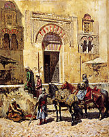 Entering The Mosque, c.1885, weeks