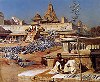 Feeding The Sacred Pigeons, Jaipur, c.1894, weeks