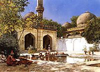 Figures in the Courtyard of a Mosque, c.1895, weeks