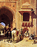 Gate Of The Fortress At Agra, India, weeks