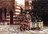 Girl in a Moorish Courtyard, 1880, weeks