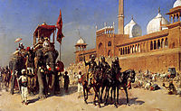Great Mogul And His Court Returning From The Great Mosque At Delhi, India, c.1886, weeks