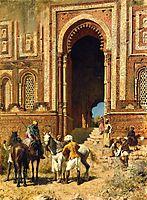 Indian Horsemen at the Gateway of Alah ou din, Old Delhi, weeks