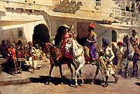 Leaving For The Hunt At Gwalior, c.1887, weeks